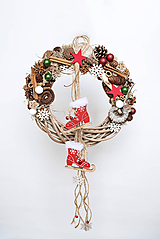 """Dekorácie - Vianočný veniec """"Farebné Vianoce"""" - 11333994_"""