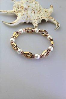 Náramky - hematit s perlou náramok luxusný - 11333109_