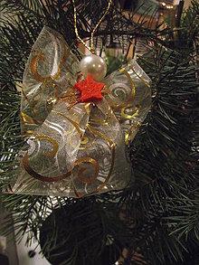 Drobnosti - vianočný anjel (Zlatá) - 11331326_