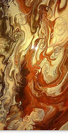 Obrazy - Golden Waltz-diptych - 11333147_