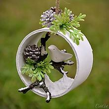 Dekorácie - Vtáčik - závesná vianočná dekorácia - 11332251_