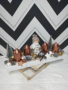 Svietidlá a sviečky - Adventnýsvietnik - 11333397_