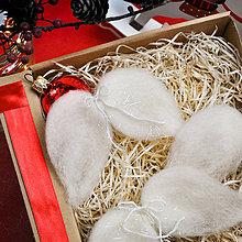 Dekorácie - Vianočné plstené krídla - sada 6ks - 11330595_