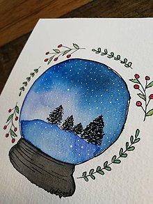 Obrazy - Vianočná guľa - 11331784_