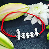 Náramky - Náramok Rodina (mama+3dcéry+otec) - 11331972_