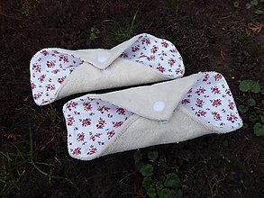 Úžitkový textil - látkové vložky intimky s PUL-biobavlna,kvety - 11329806_