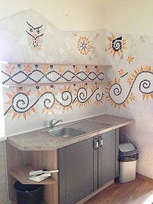 Dekorácie - Kuchynská zástena mozaika - 11330387_