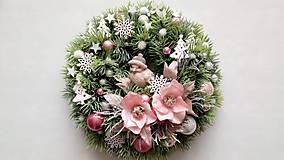 Dekorácie - Vianocny veniec Zimné vtáča - 11330809_