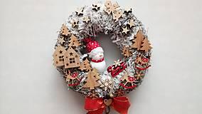 Dekorácie - Vianocny veniec Snehuliak - 11330903_