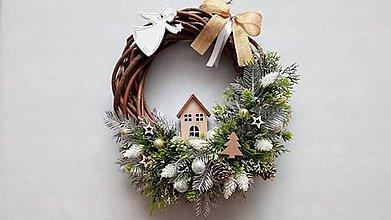 Dekorácie - Vianocny veniec Anjelik - 11330691_