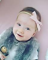 Detské doplnky - ružová látková čelenka - 11331014_
