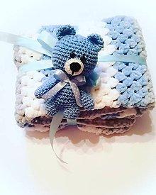 Hračky - Mini macko chlapček  (Modrá) - 11333862_