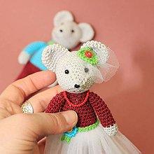 Hračky - Háčkované myšky, pár. - 11331329_