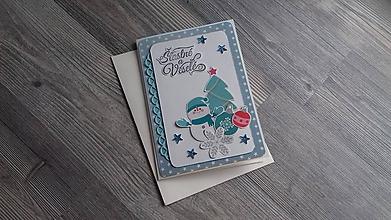 """Papiernictvo - ...pohľadnica vianočná """"Šťastné a veselé""""... - 11329837_"""
