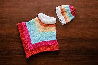 Detské oblečenie - Detské pončo s čiapočkou - 11333932_