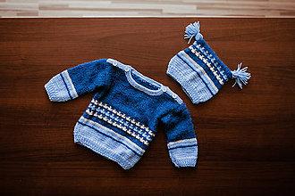 Detské oblečenie - Detský sveter s čiapočkou - 11333966_