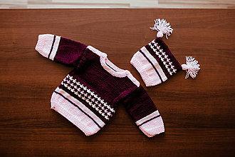 Detské oblečenie - Detský sveter s čiapočkou - 11333990_