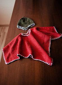 Detské oblečenie - Detské pončo s čiapočkou - 11334141_