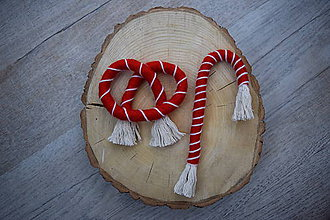 Dekorácie - Vianočný praclík a lízanka - 11330734_