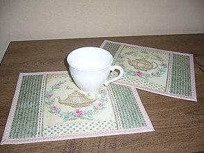 Úžitkový textil - Prestieranie Tea Time-2 sada 2kusy - 11331181_