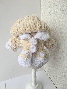 Hračky - Kabátik a čapica pre bábiky 27-28 cm. - 11332727_