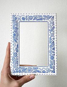 Rámiky - Folklór bielo-modrý - 11337207_
