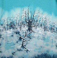 """Tričká - Dámske tričko """"Zasnežený les"""" - 11336102_"""