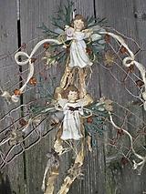 Dekorácie - Vianočná závesná dekorácia s anjelikom - 11336971_