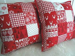 Úžitkový textil - Scandi Christmas... vankúš No.1 - 11335533_