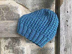 Čiapky - Čiapka (Modro-fialová) - 11335747_