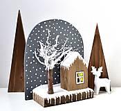 Drevená dekorácia-Zimný pokoj