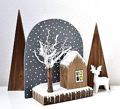 Dekorácie - Drevená dekorácia-Zimný pokoj - 11334894_
