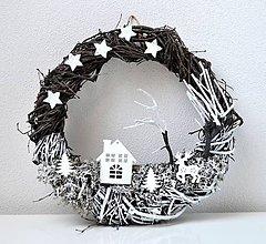 Dekorácie - Vianočný veniec-Pod hviezdnou oblohou - 11335593_