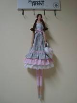 Bábiky - Šedo-ružová bábika na želanie - 11335645_