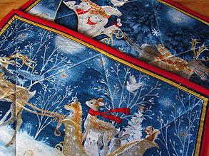 Úžitkový textil - Veľký a malý sob prestieranie Vianoce v lese A - 11335746_