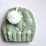 Detské čiapky - ZASNEŽENÁ hrubá čiapka s HOP-HOP brmbolcom - 11335687_