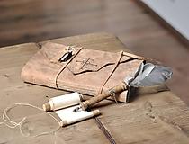 Papiernictvo - kožený zápisník - grimoár ARGENTUM - 11334820_