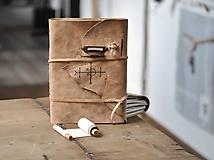 Papiernictvo - kožený zápisník - grimoár ARGENTUM - 11334821_