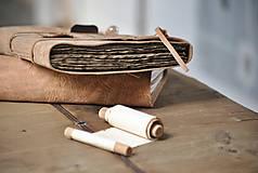 Papiernictvo - kožený zápisník - grimoár ARGENTUM - 11334824_