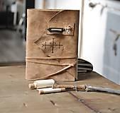Papiernictvo - kožený zápisník - grimoár ARGENTUM - 11334826_