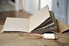 Papiernictvo - kožený zápisník - grimoár ARGENTUM - 11334829_