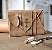 Papiernictvo - kožený zápisník - grimoár ARGENTUM - 11334830_