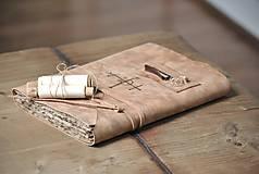 Papiernictvo - kožený zápisník - grimoár ARGENTUM - 11334831_