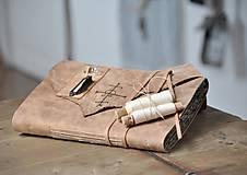 Papiernictvo - kožený zápisník - grimoár ARGENTUM - 11334838_