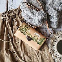 Kabelky - Kožená kabelka MidiMe (ručne maľovaná) - 11334548_