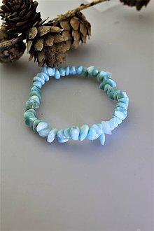Náramky - larimar náramok - tromlované korálky larimar - 11335922_