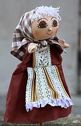 Hračky - Maňuška. Bábika Babička Boženka. - 11337043_