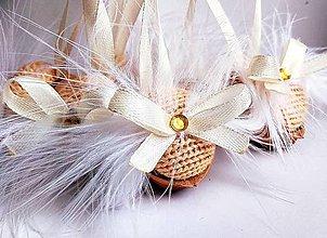 Dekorácie - Vianočné oriešky - 11334696_