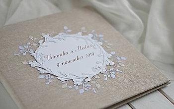 Papiernictvo - Svadobný fotoalbum - 11336707_