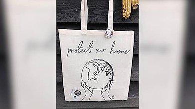 Iné tašky - ♥ Plátená, ručne maľovaná taška ♥ - 11335889_